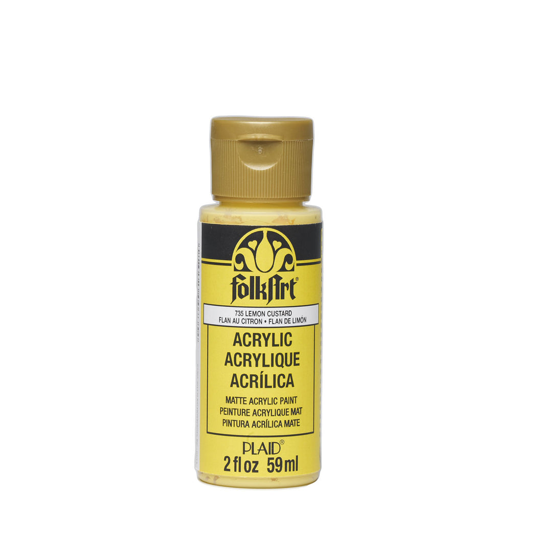 FOLKART ACRYLIC LEMON CUSTARD (2OZ)