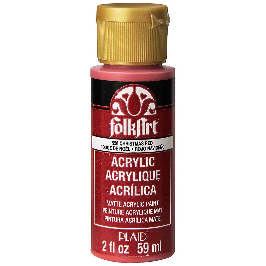 FOLKART ACRYLIC CHRISTMAS RED (2OZ)