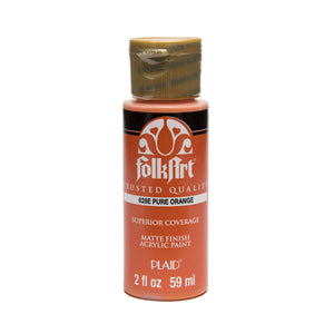 FOLKART ACRYLIC PURE ORANGE (2OZ)