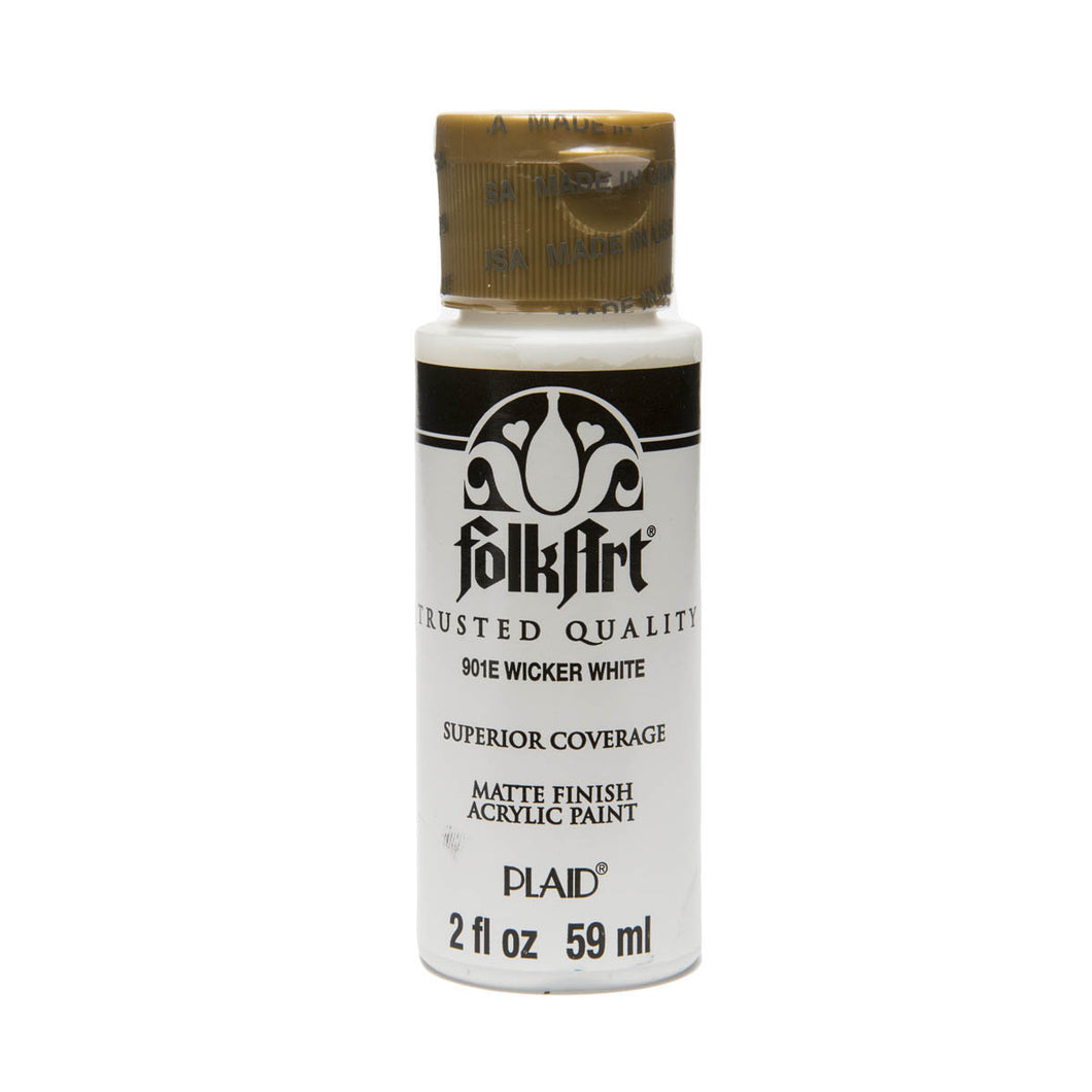 FOLKART ACRYLIC WICKER WHITE (2OZ)