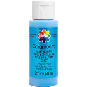 DELTA CERAMCOAT GLITTER BLUE (2OZ)
