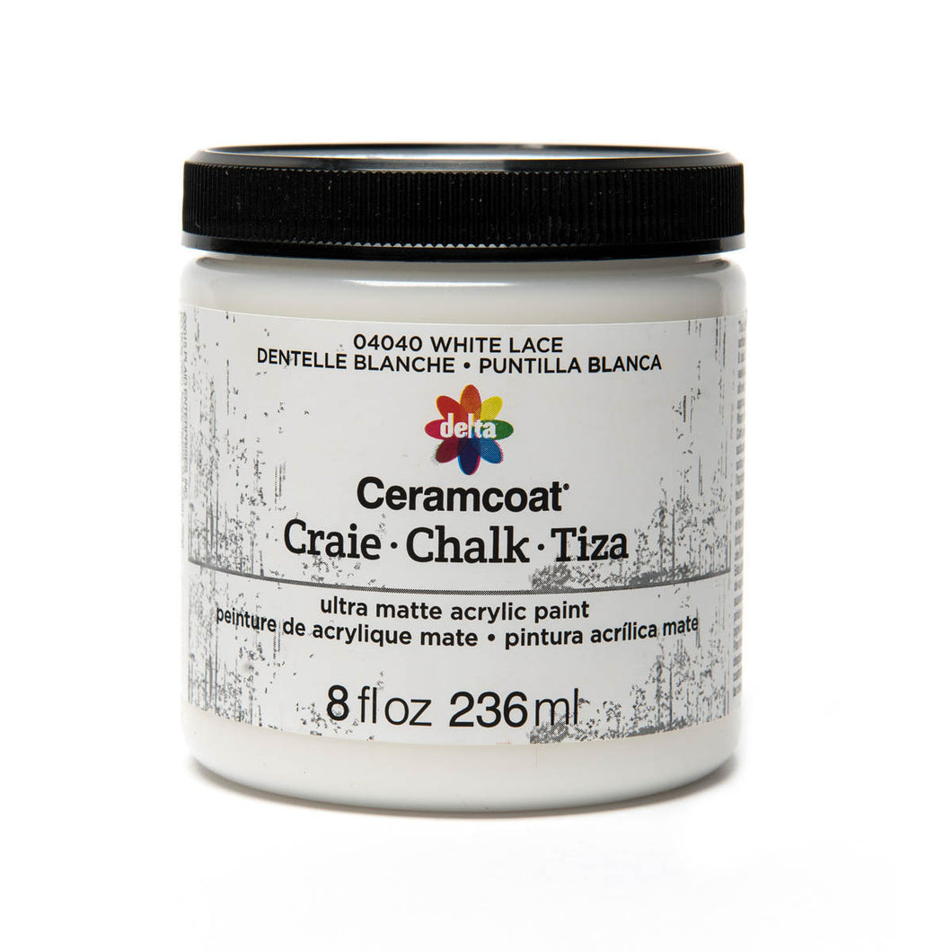 DELTA CERAMCOAT CHALK WHITE LACE  (8OZ)