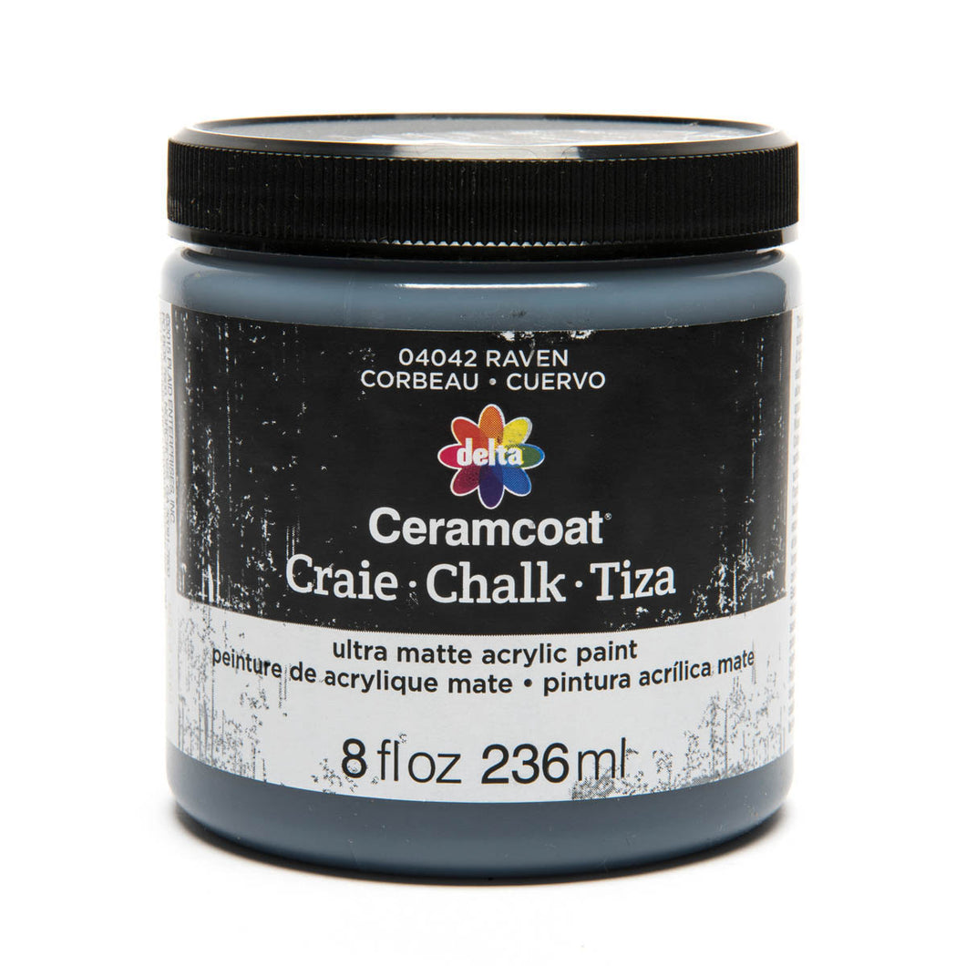 DELTA CERAMCOAT CHALK RAVEN (8OZ)