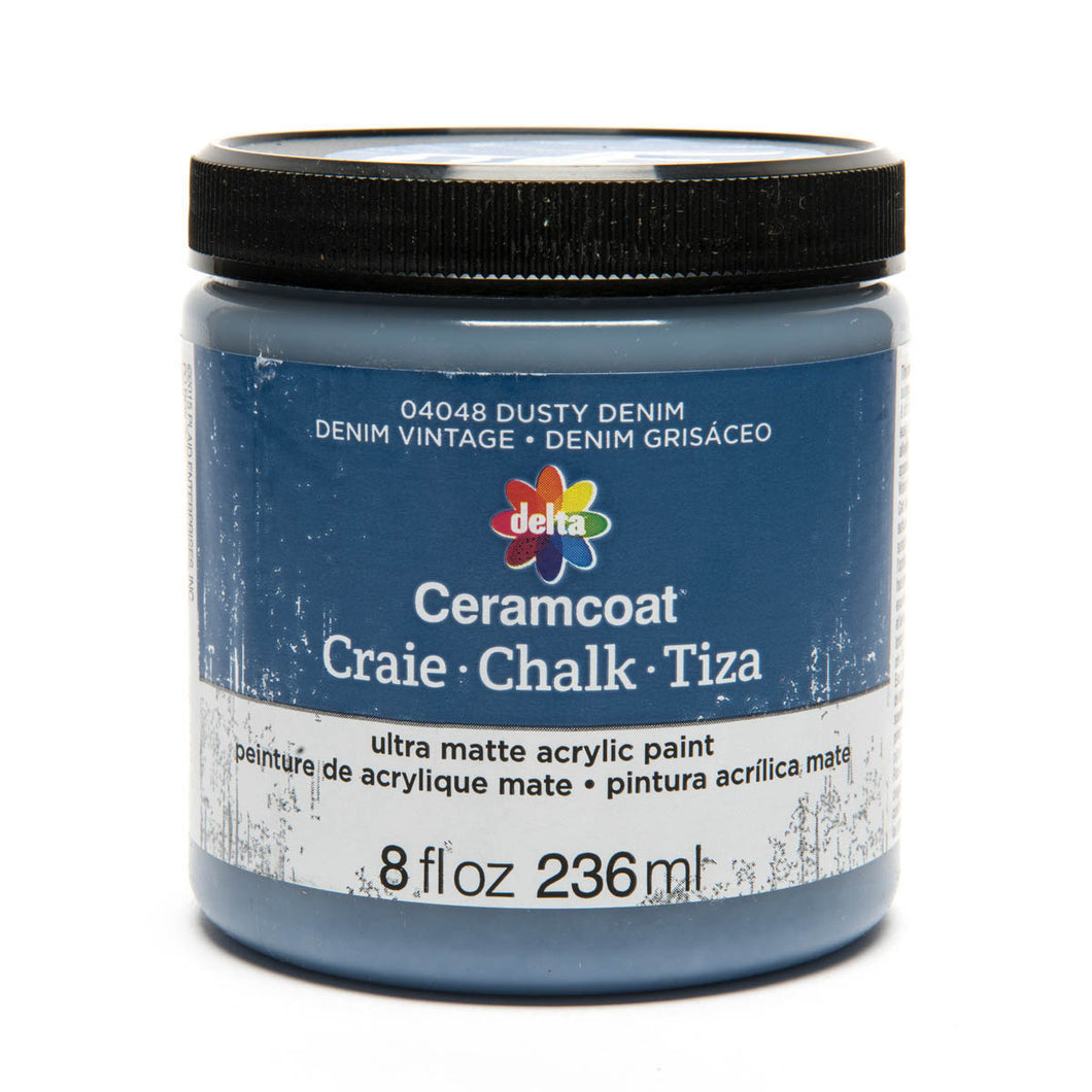 DELTA CERAMCOAT CHALK  DUSTY DENIM (8OZ)