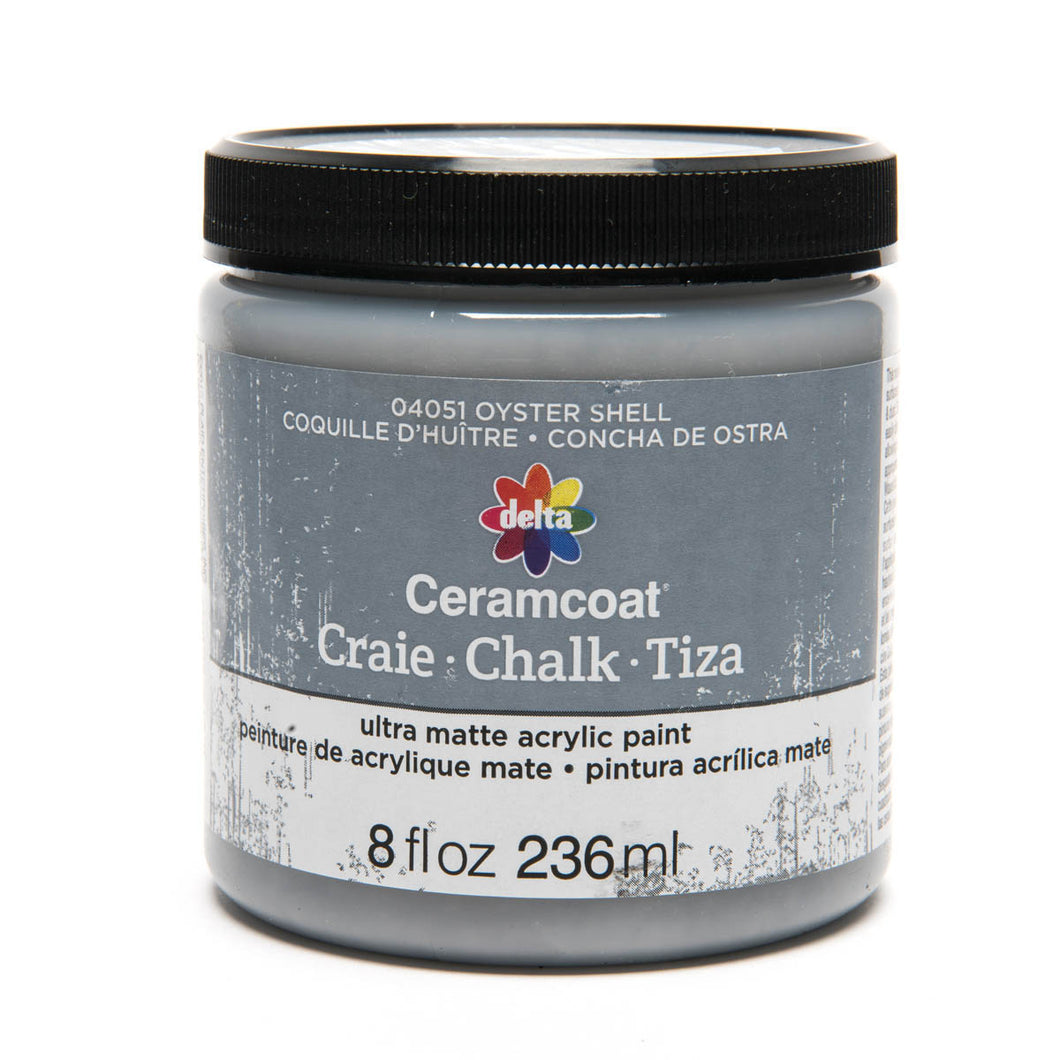 DELTA CERAMCOAT CHALK (8OZ) OYSTER SHELL
