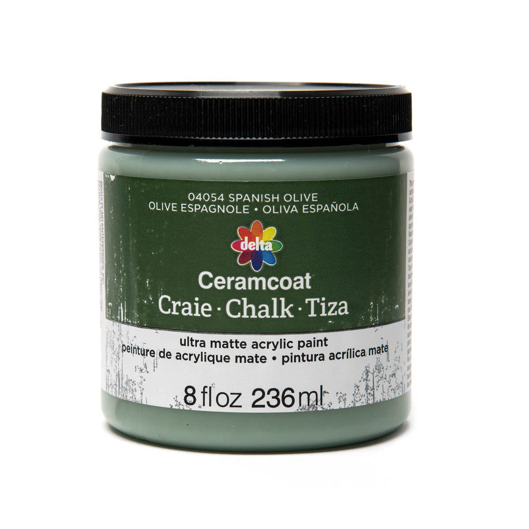 DELTA CERAMCOAT CHALK SPANISH OLIVE (8OZ)
