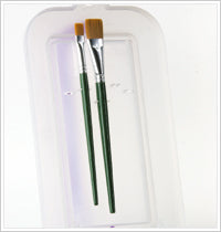 Plaid One Stroke Painting  BRUSH CADDY