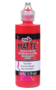 Tulip 3d Dimensional Paint Matte Real Red 118ml / 4oz