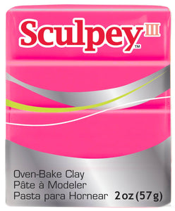 Sculpey III  Hot Pink (2oz) (57g)