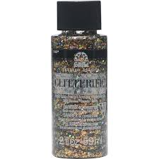 Folkart Glitterific 2oz CINNAMON Plaid Crafts
