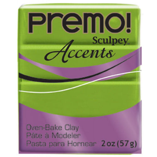 Premo Sculpey Accents Bright Green Pearl (2oz)