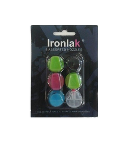 Ironlak Spray Paint 6 assorted Nozzles
