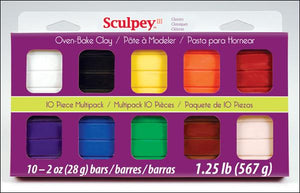 Sculpey III Multi Pack  Classic Collection (10 x 2oz )