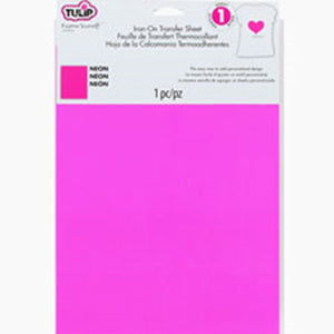 Cosplay - Tulip Iron On Transfer Paper Neon Pink - Single Sheet