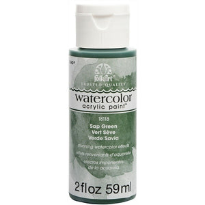 FOLKART WATERCOLOR ACRYLIC 2OZ SAP GREEN - Cosplay Card Making