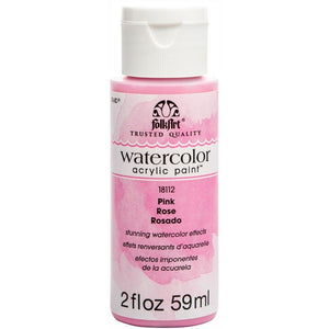 FOLKART WATERCOLOR ACRYLIC 2OZ PINK - Cosplay Card Making