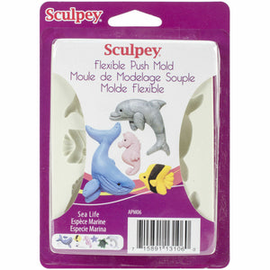 Sculpey Flexible Push Mold  Sea Life APM06 ISCAPM06