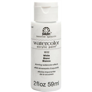 FOLKART WATERCOLOR ACRYLIC 2OZ WHITE - Cosplay Card Making