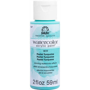 FOLKART WATERCOLOR ACRYLIC 2OZ PASTEL TURQUOISE - Cosplay Card Making