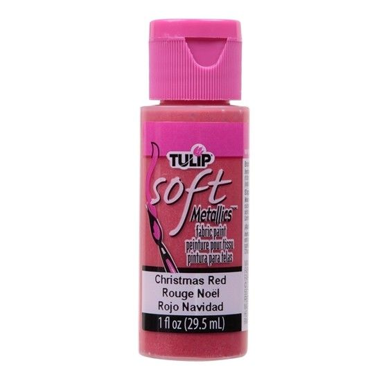 Tulip Soft Fabric Paint 1oz - Christmas Red
