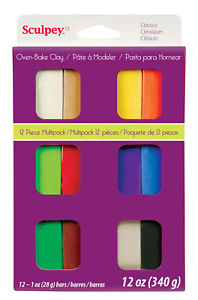 Sculpey III Classic Multi Pack -12 1oz bars - S3 VMC-6