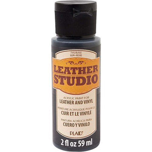 Leather Studio Paint 2oz Black - Cosplay Plaid Crafts