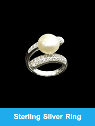 Sterling Silver Ring with Pearl