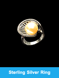 Elegant  Sterling Silver Ring With Pearl
