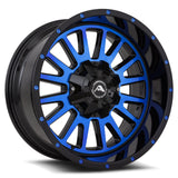 A105 Black Machined Blue