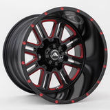 A106 Black Milled Red