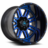 A106 Black Machined Blue
