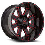 A108 Black Milled Red