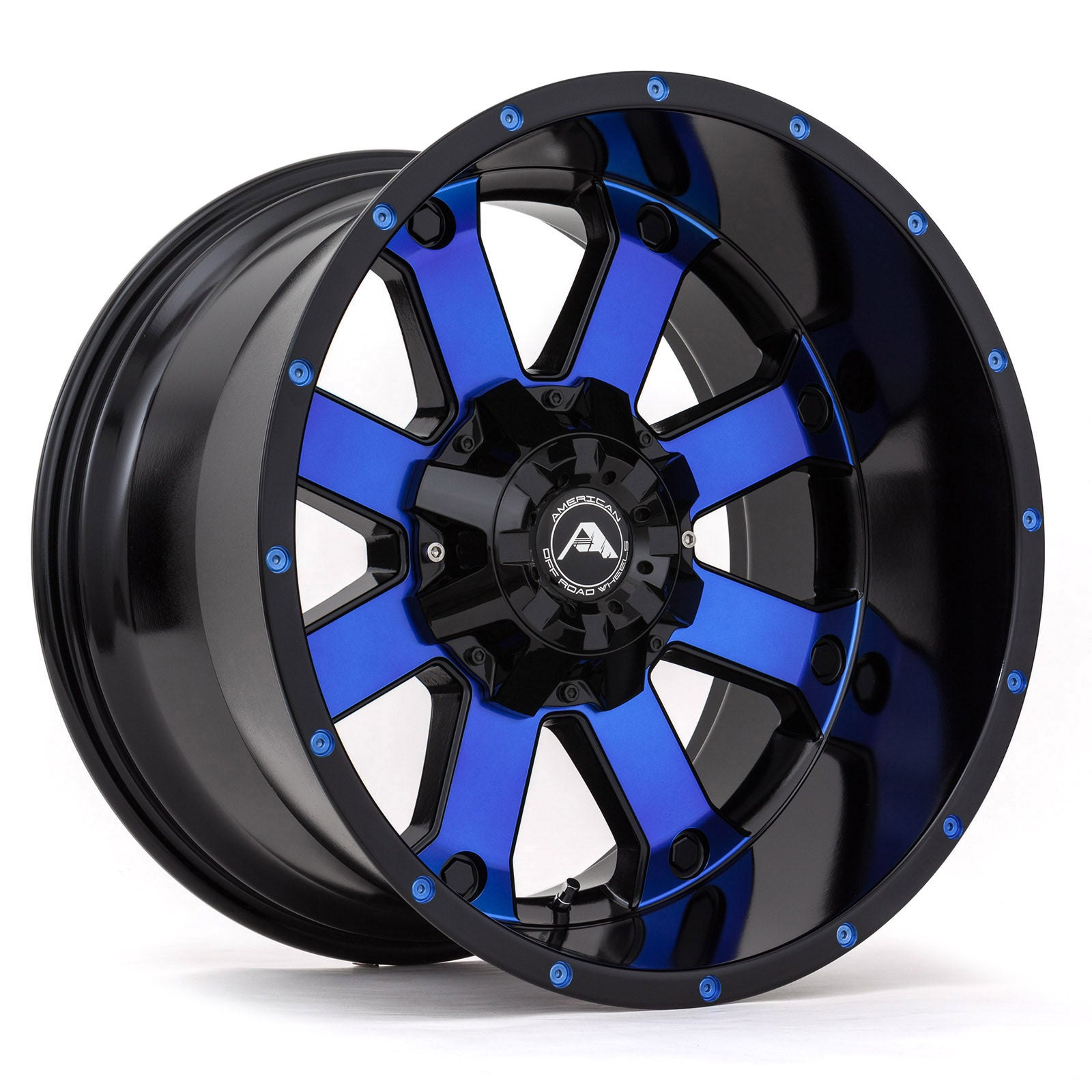 A108 Black Machined Blue