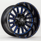 A105 Black Milled Blue