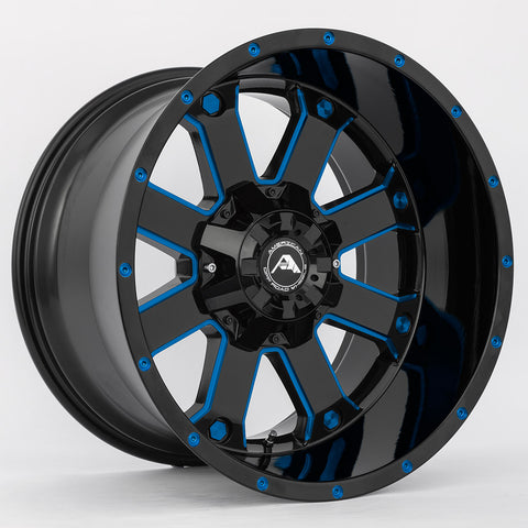 A108 Black Milled Blue
