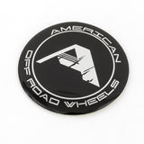 American Off-Road Black Center Cap Sticker (Black Logo)