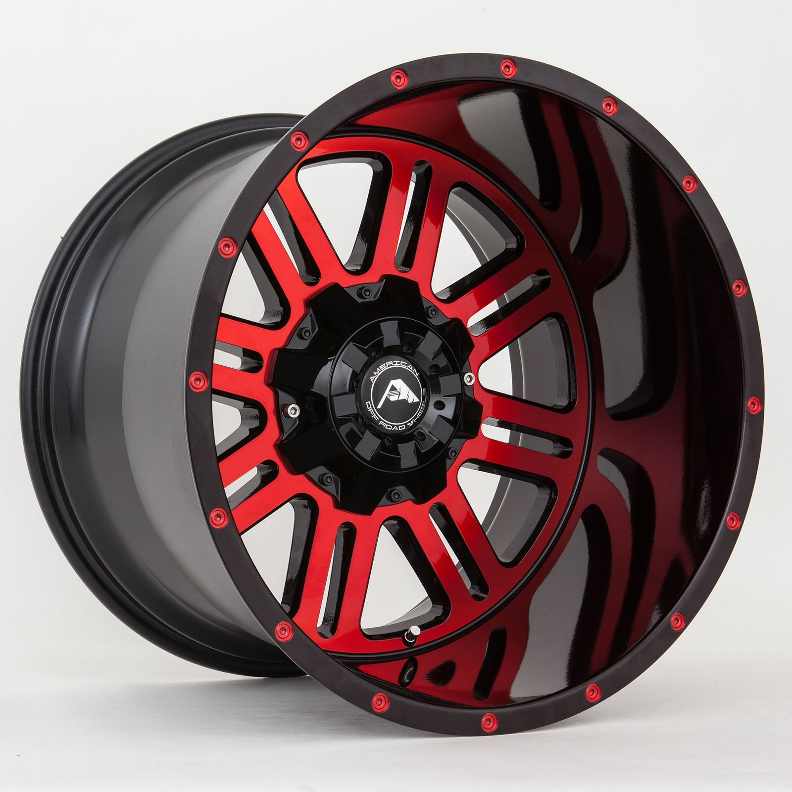 A106 Black Machined Red Tint