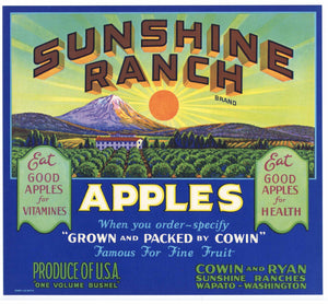 Apple Fruit Crate Labels