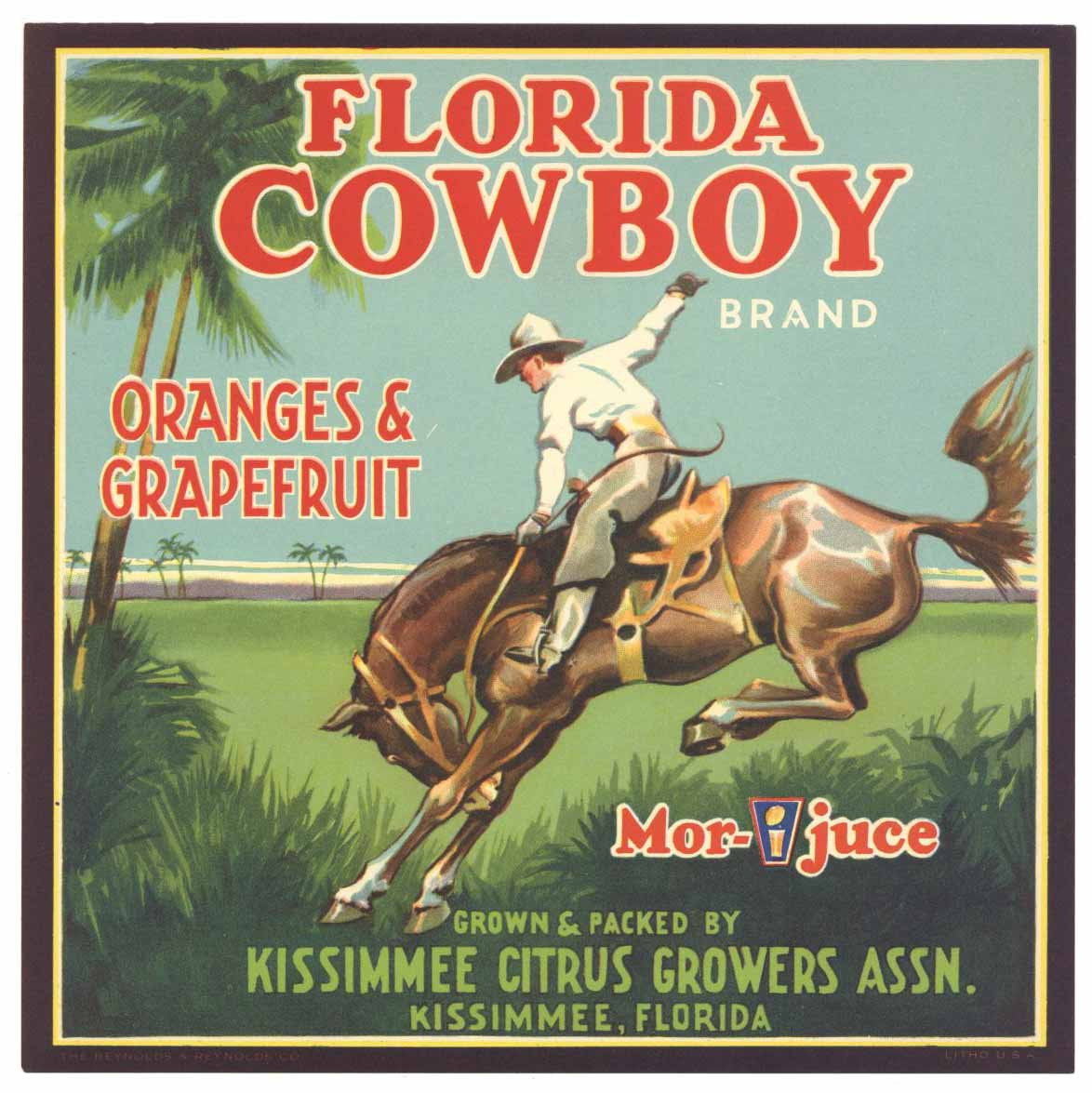 Western Themed Fruit Crate Labels