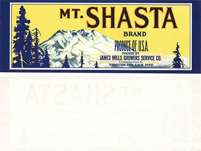 mount shasta label