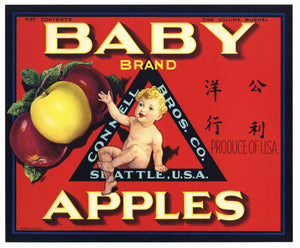 Baby Brand Vintage Apple Crate Label