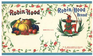 Robin Hood Brand Vintage Mixed Fruit Can Label