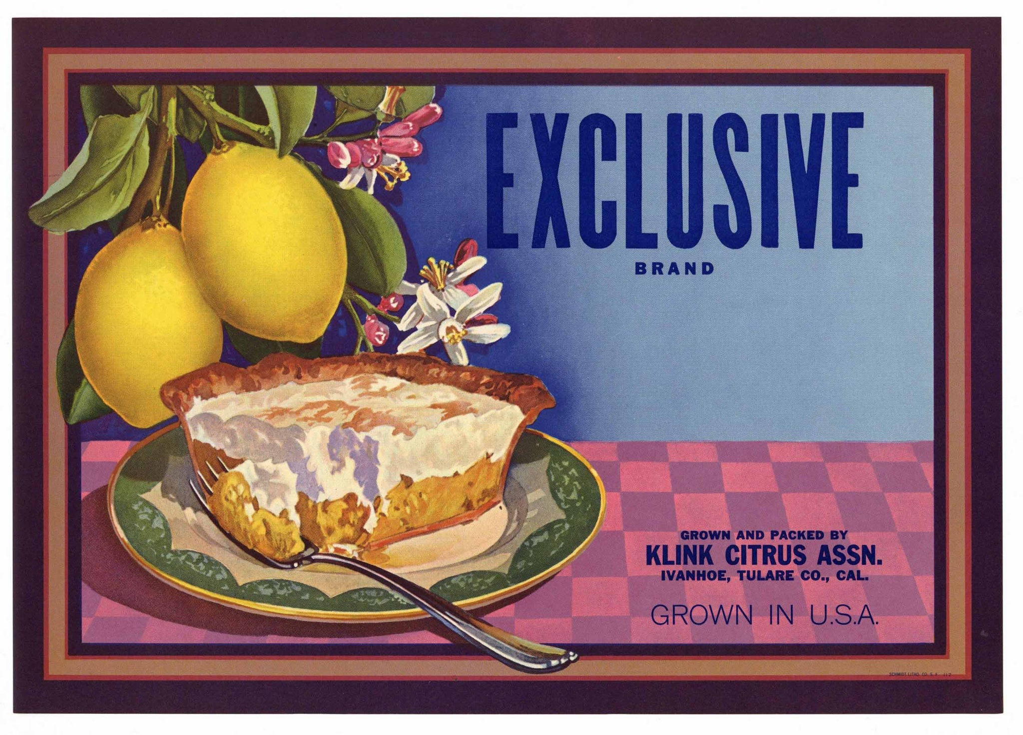 Exclusive Brand Vintage Lemon Crate Label