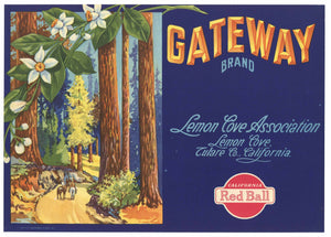 Gateway Brand Vintage Lemon Crate Label