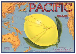 Pacific Brand Vintage Santa Barbara Lemon Crate Label