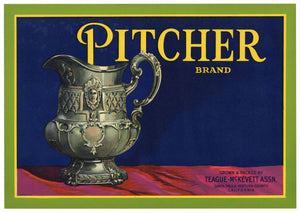 Pitcher Brand Vintage Santa Paula Lemon Crate Label