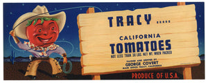 Tracy Brand Vintage Tomato Crate Label