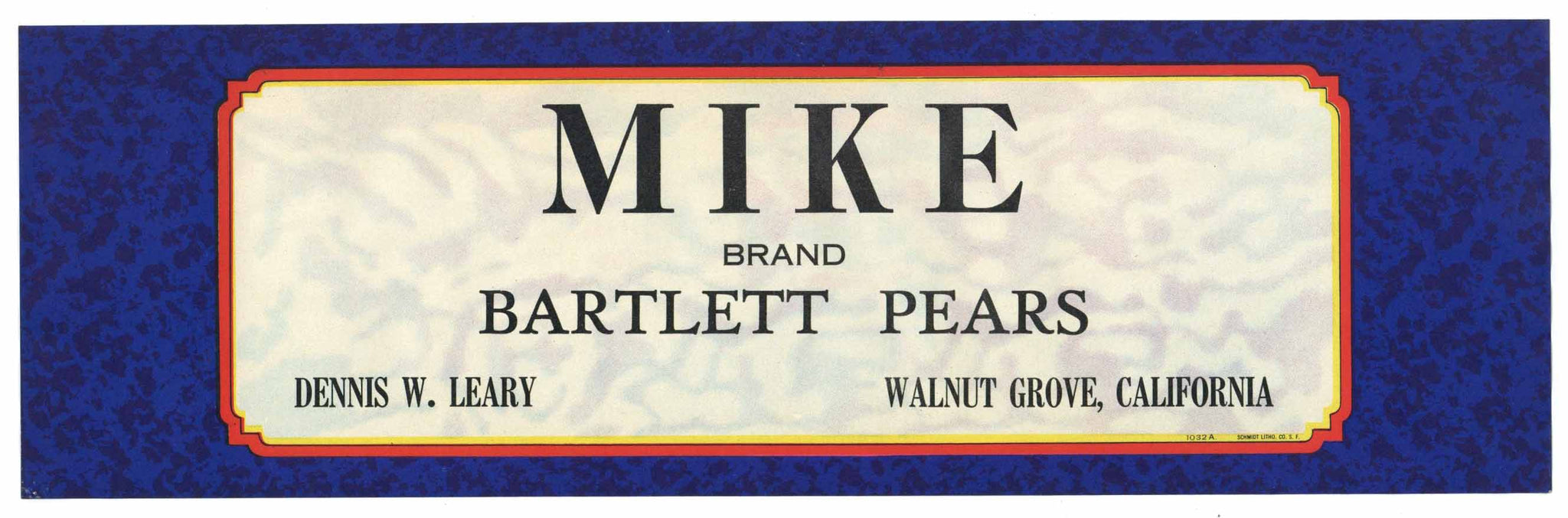 Mike Brand Vintage Sacramento Delta Pear Crate Label