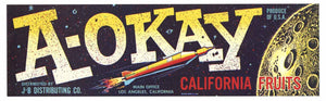 A-OKAY Brand Vintage Fruit Crate Label (LL120)