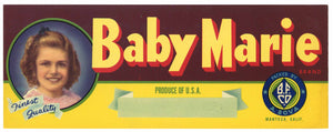 Baby Marie Brand Vintage Fruit  Crate Label